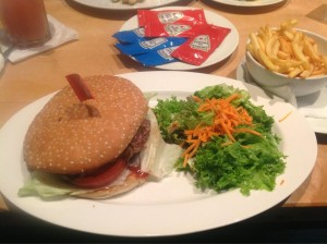 Burger in der Trude
