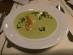 Frankfurter grüne Soße als Suppe mit Garnelen im Steigenberger Frankfurt Langen